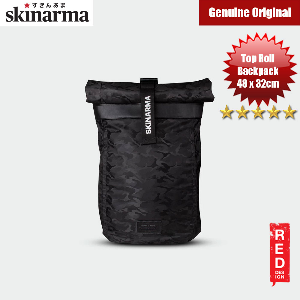 Picture of Skinarma Senso Top Roll Fashion Laptop Backpack up to 14 inches Laptop (Black) Red Design- Red Design Cases, Red Design Covers, iPad Cases and a wide selection of Red Design Accessories in Malaysia, Sabah, Sarawak and Singapore