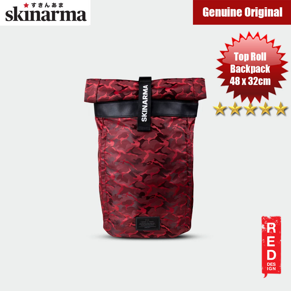 Picture of Skinarma Senso Top Roll Fashion Laptop Backpack up to 14 inches Laptop (Red) Red Design- Red Design Cases, Red Design Covers, iPad Cases and a wide selection of Red Design Accessories in Malaysia, Sabah, Sarawak and Singapore