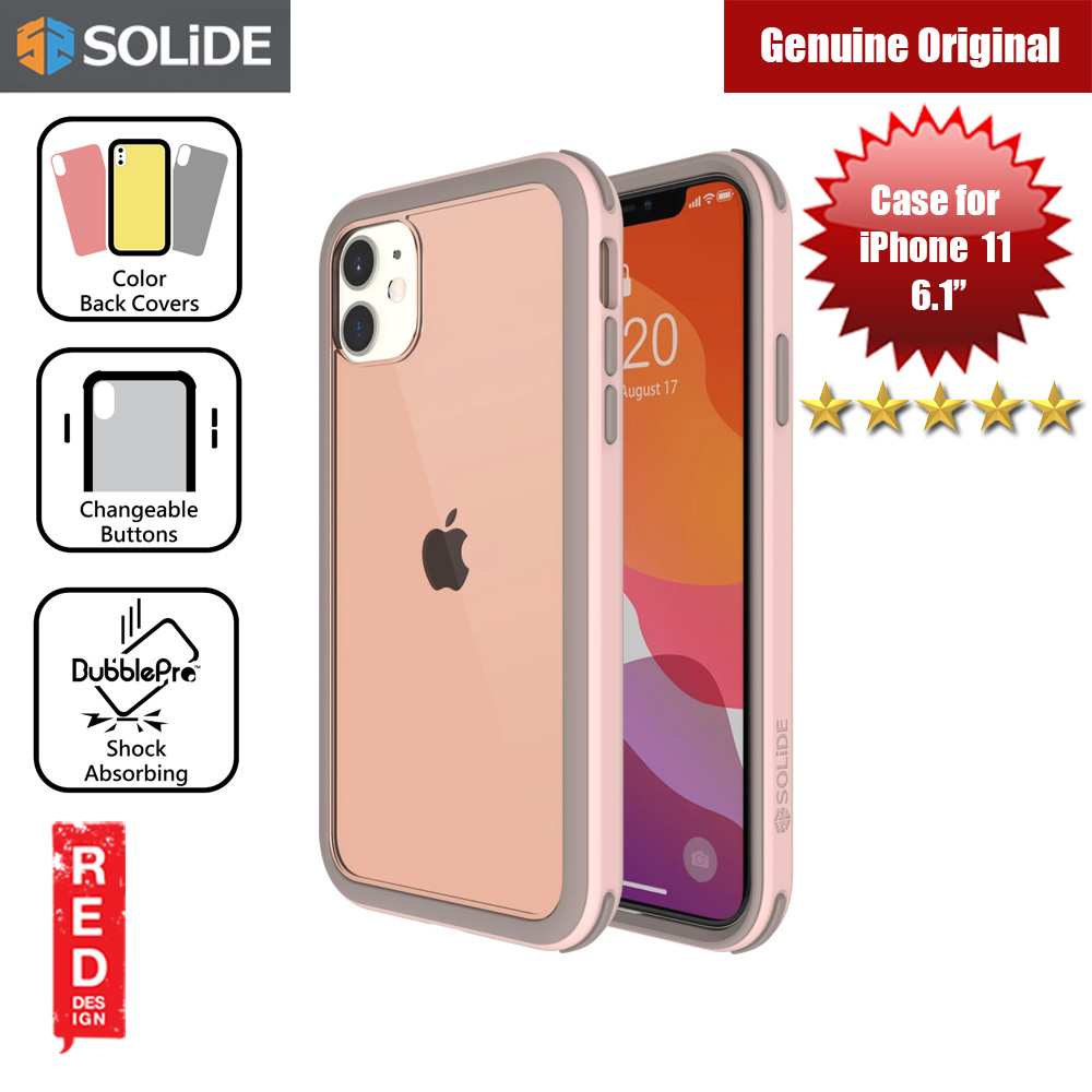 Picture of SOLiDE Venus EX Color Player Shock Absorbing Protection Case for Apple iPhone 11 6.1 (Pink Brown) Apple iPhone 11 6.1- Apple iPhone 11 6.1 Cases, Apple iPhone 11 6.1 Covers, iPad Cases and a wide selection of Apple iPhone 11 6.1 Accessories in Malaysia, Sabah, Sarawak and Singapore