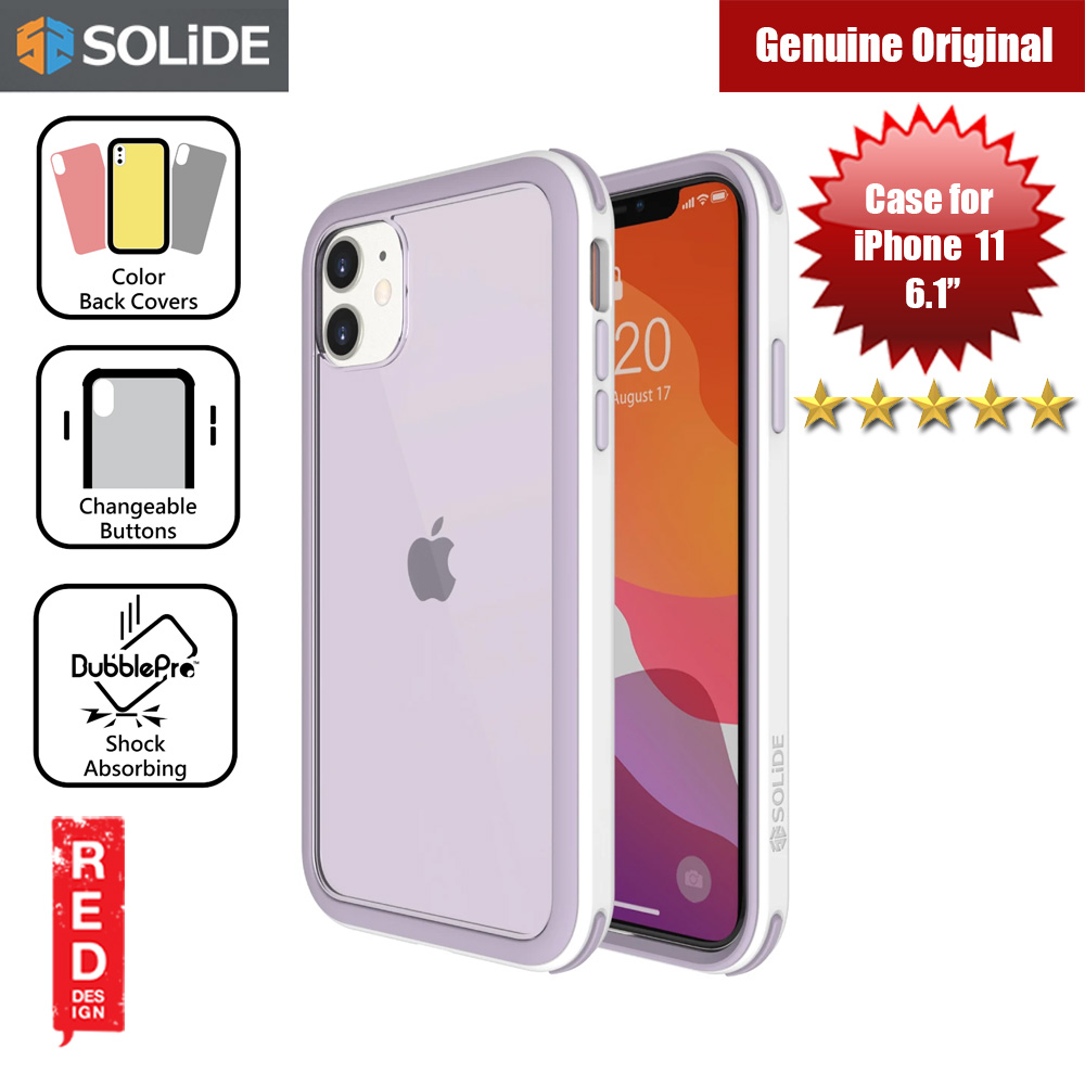 Picture of SOLiDE Venus EX Color Player Shock Absorbing Protection Case for Apple iPhone 11 6.1 (White Orchid) Apple iPhone 11 6.1- Apple iPhone 11 6.1 Cases, Apple iPhone 11 6.1 Covers, iPad Cases and a wide selection of Apple iPhone 11 6.1 Accessories in Malaysia, Sabah, Sarawak and Singapore