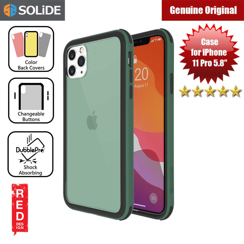 Picture of SOLiDE Venus EX Color Player Shock Absorbing Protection Case for Apple iPhone 11 Pro 5.8 (Green Black) Apple iPhone 11 Pro 5.8- Apple iPhone 11 Pro 5.8 Cases, Apple iPhone 11 Pro 5.8 Covers, iPad Cases and a wide selection of Apple iPhone 11 Pro 5.8 Accessories in Malaysia, Sabah, Sarawak and Singapore