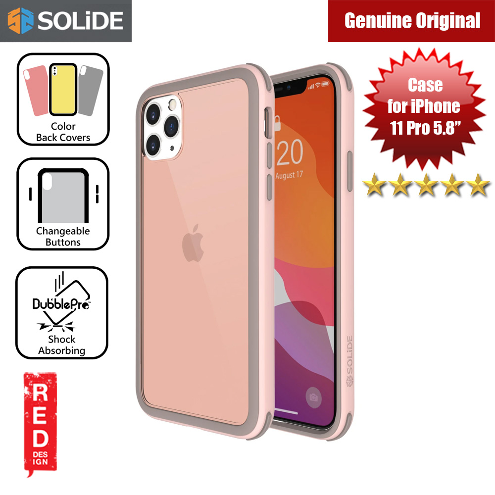 Picture of SOLiDE Venus EX Color Player Shock Absorbing Protection Case for Apple iPhone 11 Pro 5.8 (Pink Brown) Apple iPhone 11 Pro 5.8- Apple iPhone 11 Pro 5.8 Cases, Apple iPhone 11 Pro 5.8 Covers, iPad Cases and a wide selection of Apple iPhone 11 Pro 5.8 Accessories in Malaysia, Sabah, Sarawak and Singapore