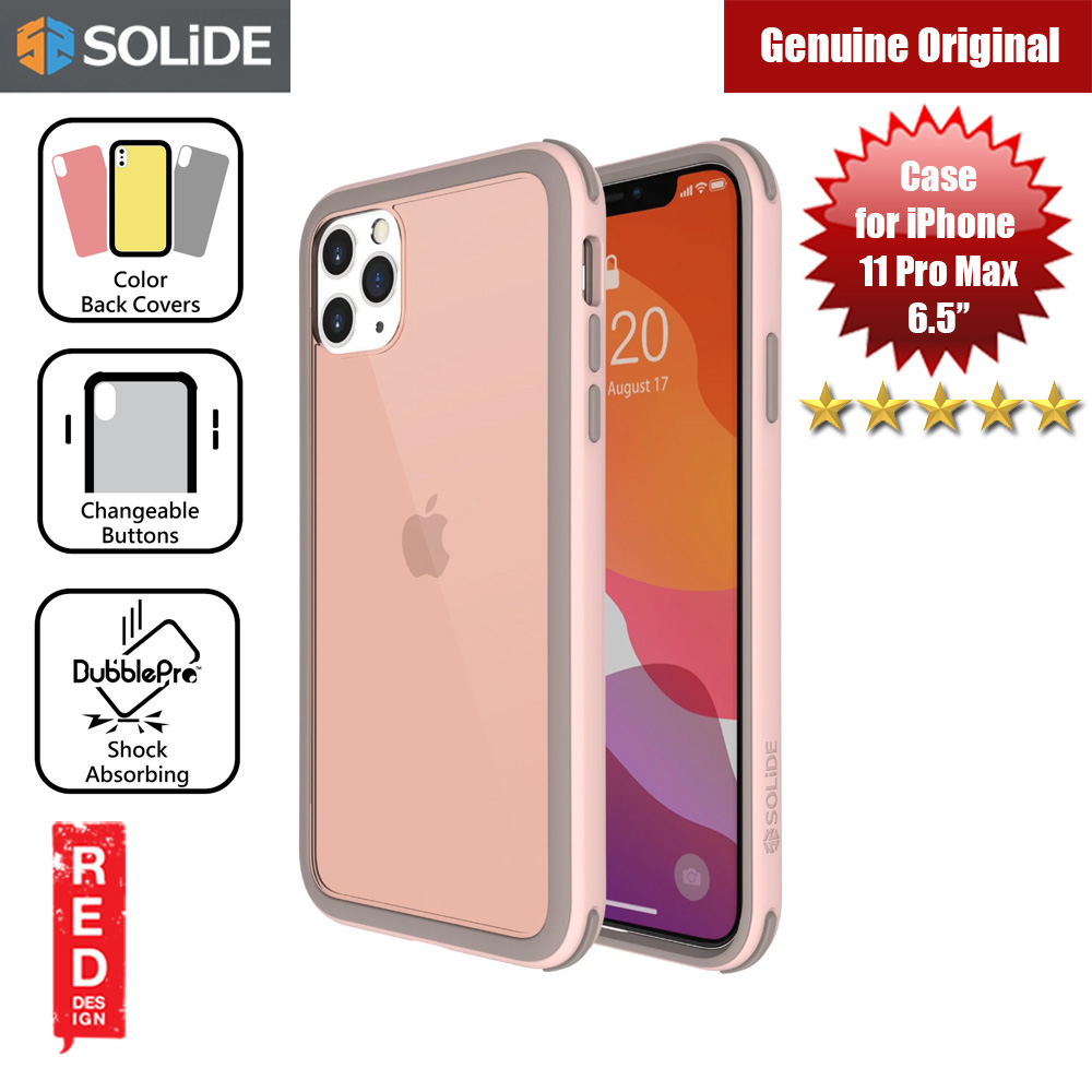 Picture of SOLiDE Venus EX Color Player Shock Absorbing Protection Case for Apple iPhone 11 Pro Max 6.5 (Pink Brown) Apple iPhone 11 Pro Max 6.5- Apple iPhone 11 Pro Max 6.5 Cases, Apple iPhone 11 Pro Max 6.5 Covers, iPad Cases and a wide selection of Apple iPhone 11 Pro Max 6.5 Accessories in Malaysia, Sabah, Sarawak and Singapore