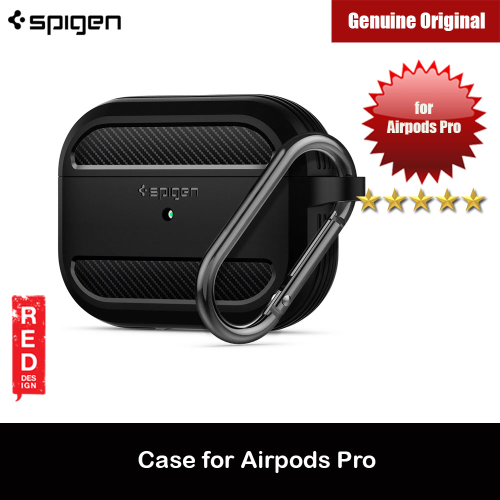 Picture of Spigen Apple AirPods Pro Case Rugged Armor Case removable Hook Carabiner (Black) Apple Airpods Pro- Apple Airpods Pro Cases, Apple Airpods Pro Covers, iPad Cases and a wide selection of Apple Airpods Pro Accessories in Malaysia, Sabah, Sarawak and Singapore