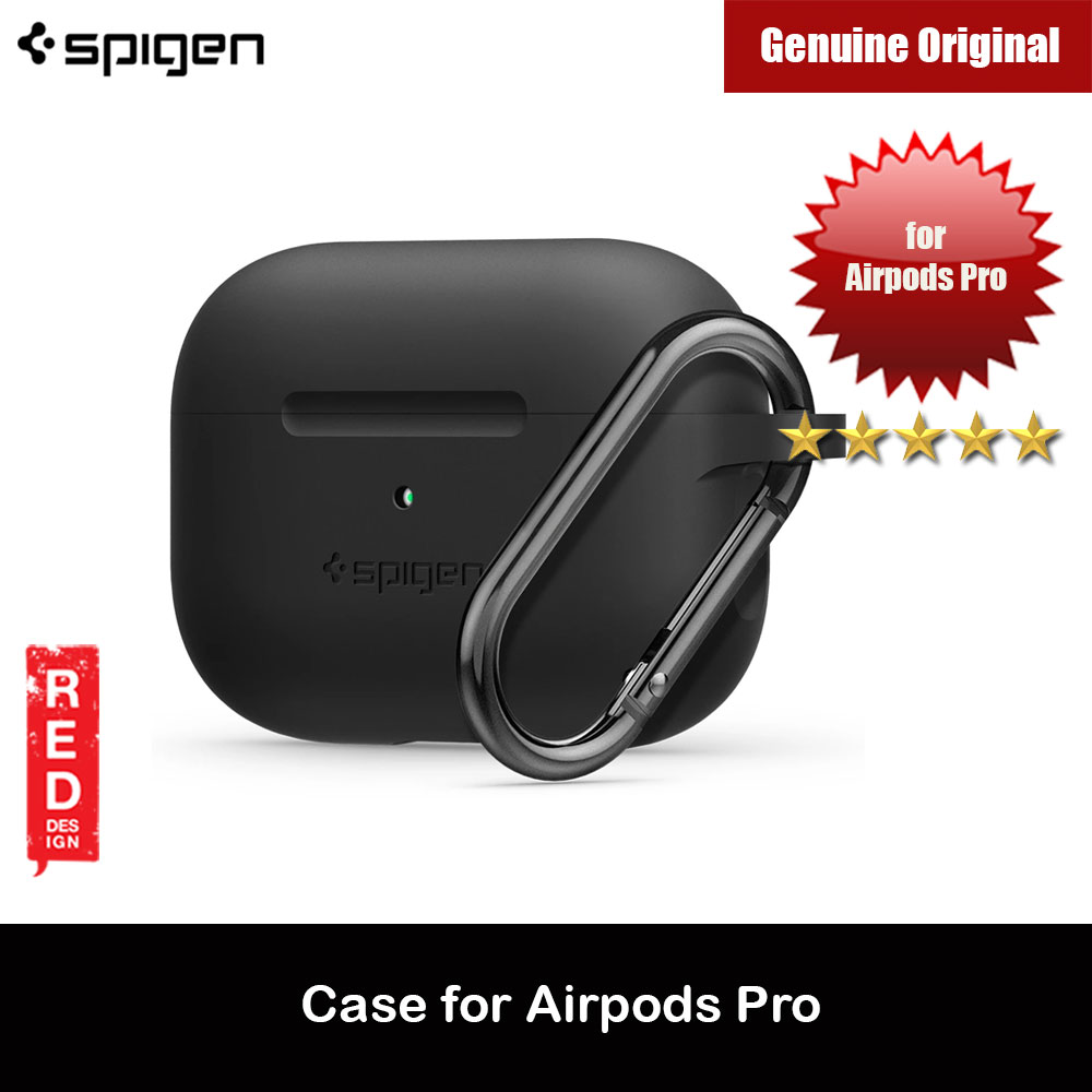 Picture of Spigen Apple AirPods Pro Case Silicone Fit Slim and Lightweight Case removable Hook Carabiner (Black) Apple Airpods Pro- Apple Airpods Pro Cases, Apple Airpods Pro Covers, iPad Cases and a wide selection of Apple Airpods Pro Accessories in Malaysia, Sabah, Sarawak and Singapore