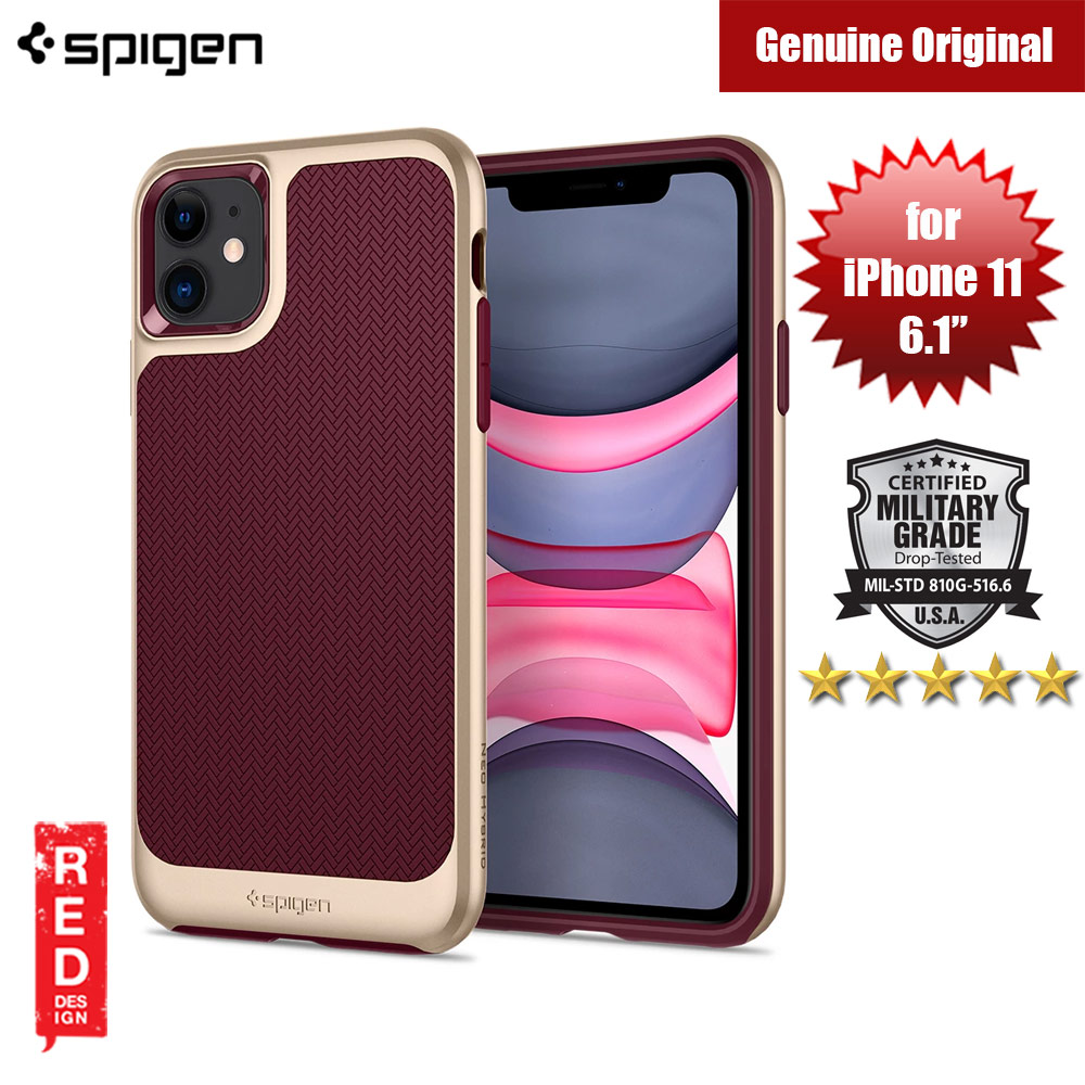 Picture of Spigen Neo Hybrid Drop Protection Case for Apple iPhone 11 6.1 (Burgundy) Apple iPhone 11 6.1- Apple iPhone 11 6.1 Cases, Apple iPhone 11 6.1 Covers, iPad Cases and a wide selection of Apple iPhone 11 6.1 Accessories in Malaysia, Sabah, Sarawak and Singapore