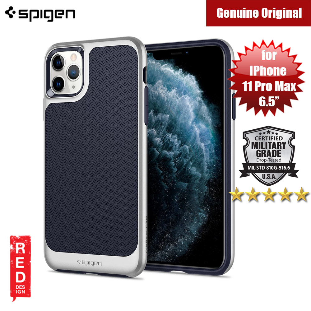 Picture of Spigen Neo Hybrid Drop Protection Case for Apple iPhone 11 Pro Max 6.5 (Satin Silver) Apple iPhone 11 Pro Max 6.5- Apple iPhone 11 Pro Max 6.5 Cases, Apple iPhone 11 Pro Max 6.5 Covers, iPad Cases and a wide selection of Apple iPhone 11 Pro Max 6.5 Accessories in Malaysia, Sabah, Sarawak and Singapore