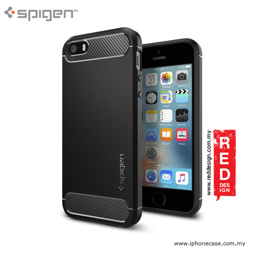 Picture of Spigen Rugged Armor Case for iPhone SE iPhone 5 iPhone 5S - Black Apple iPhone 5- Apple iPhone 5 Cases, Apple iPhone 5 Covers, iPad Cases and a wide selection of Apple iPhone 5 Accessories in Malaysia, Sabah, Sarawak and Singapore