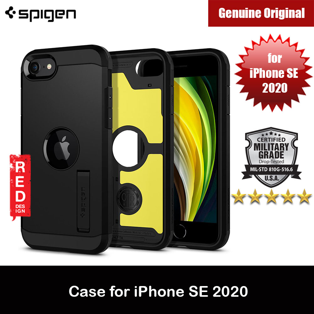 Picture of Spigen Tough Armor Drop Protection Camera Protection Case for Apple iPhone SE 2020 (Black) Apple iPhone SE 2020- Apple iPhone SE 2020 Cases, Apple iPhone SE 2020 Covers, iPad Cases and a wide selection of Apple iPhone SE 2020 Accessories in Malaysia, Sabah, Sarawak and Singapore