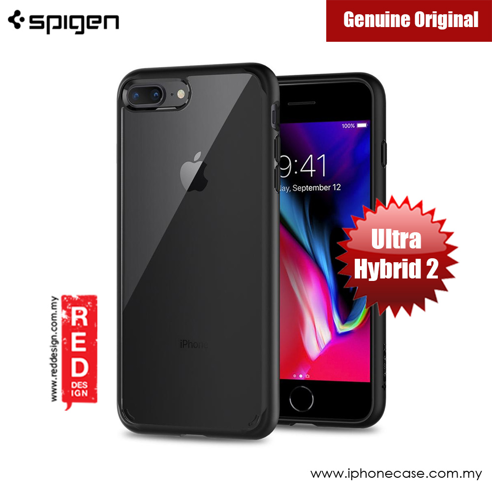 Picture of Spigen Ultra Hybrid 2 Protection Case for Apple iPhone 7 Plus iPhone 8 Plus 5.5 (Black) Apple iPhone 7 Plus 5.5- Apple iPhone 7 Plus 5.5 Cases, Apple iPhone 7 Plus 5.5 Covers, iPad Cases and a wide selection of Apple iPhone 7 Plus 5.5 Accessories in Malaysia, Sabah, Sarawak and Singapore