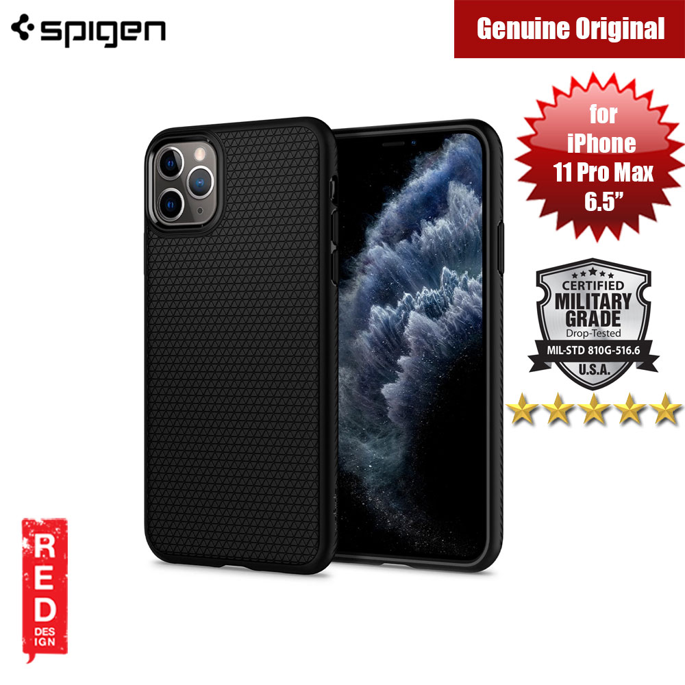 Picture of Spigen Liquid Air Drop Protection Case for Apple iPhone 11 Pro Max 6.5 (Black) Apple iPhone 11 Pro Max 6.5- Apple iPhone 11 Pro Max 6.5 Cases, Apple iPhone 11 Pro Max 6.5 Covers, iPad Cases and a wide selection of Apple iPhone 11 Pro Max 6.5 Accessories in Malaysia, Sabah, Sarawak and Singapore