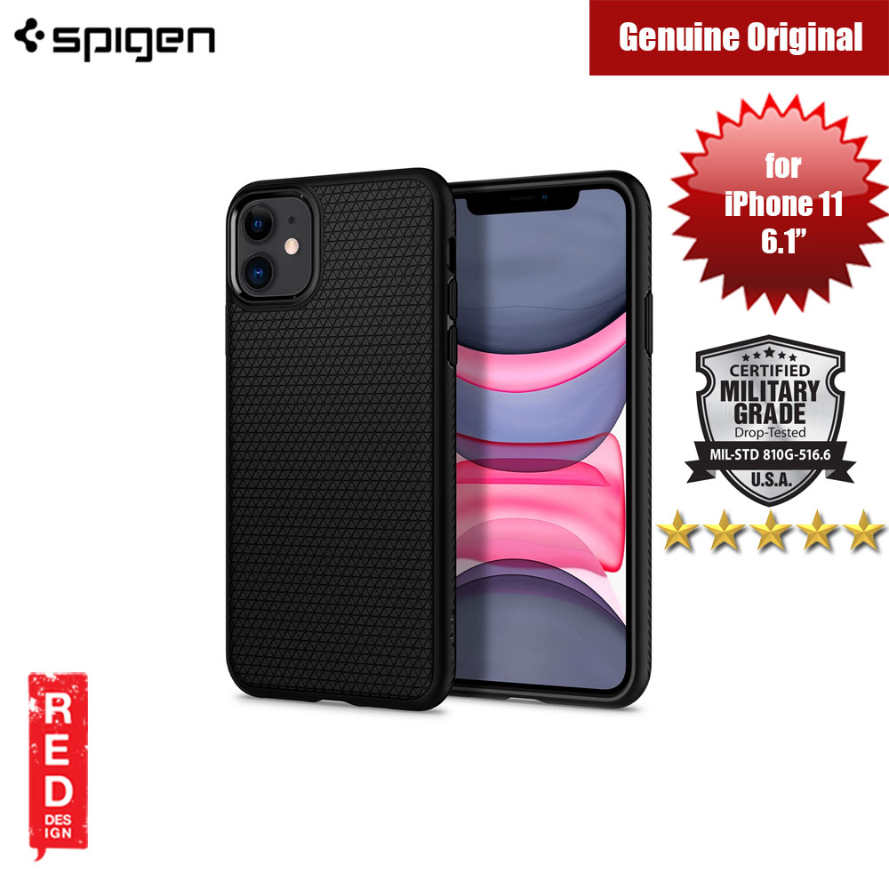 Picture of Spigen Liquid Air Drop Protection Case for Apple iPhone 11 6.1 (Black) Apple iPhone 11 6.1- Apple iPhone 11 6.1 Cases, Apple iPhone 11 6.1 Covers, iPad Cases and a wide selection of Apple iPhone 11 6.1 Accessories in Malaysia, Sabah, Sarawak and Singapore
