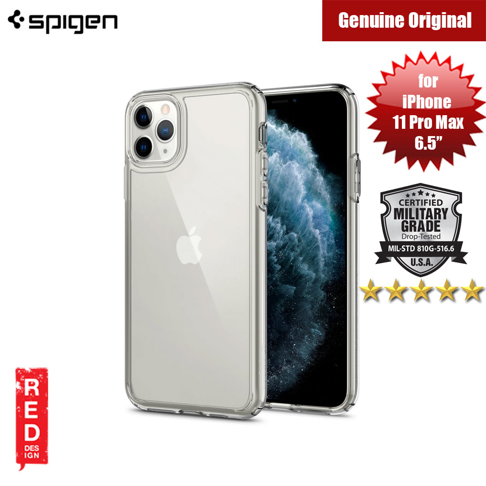 Picture of Spigen Ultra Hybrid Drop Protection Case for Apple iPhone 11 Pro Max 6.5 (Crystal Clear) Apple iPhone 11 Pro Max 6.5- Apple iPhone 11 Pro Max 6.5 Cases, Apple iPhone 11 Pro Max 6.5 Covers, iPad Cases and a wide selection of Apple iPhone 11 Pro Max 6.5 Accessories in Malaysia, Sabah, Sarawak and Singapore