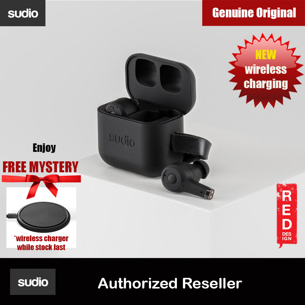 Picture of Sudio ETT Wireless Charge TWS True Wireless Bluetooth Earbuds (Black) Red Design- Red Design Cases, Red Design Covers, iPad Cases and a wide selection of Red Design Accessories in Malaysia, Sabah, Sarawak and Singapore