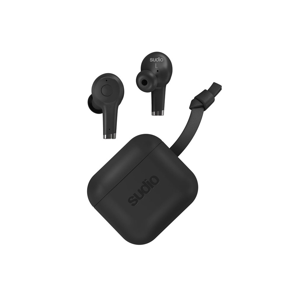 Picture of Sudio ETT Wireless Charge TWS True Wireless Bluetooth Earbuds (Black)