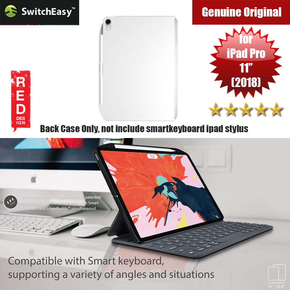 "Picture of Switcheasy Coverbuddy Back Cover Case Compatible with Smart Keybord Folio for Apple iPad Pro 11"" 2018  (Solid White) Apple iPad Pro 11.0 2018- Apple iPad Pro 11.0 2018 Cases, Apple iPad Pro 11.0 2018 Covers, iPad Cases and a wide selection of Apple iPad Pro 11.0 2018 Accessories in Malaysia, Sabah, Sarawak and Singapore"