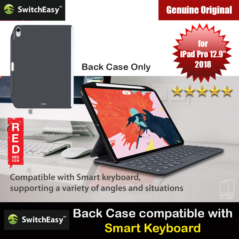 "Picture of Switcheasy Coverbuddy Back Cover Case Compatible with Smart Keybord Folio for Apple iPad Pro 12"" 2018  (Dark Gray) Apple iPad Pro 12.9 2018- Apple iPad Pro 12.9 2018 Cases, Apple iPad Pro 12.9 2018 Covers, iPad Cases and a wide selection of Apple iPad Pro 12.9 2018 Accessories in Malaysia, Sabah, Sarawak and Singapore"