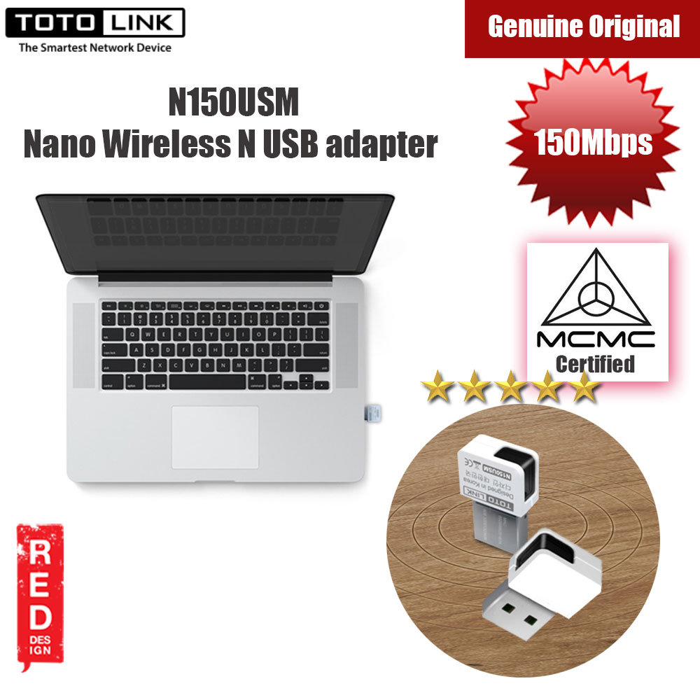 Picture of Totolink 150Mbps Wireless N Nano USB Adapter N150USM Red Design- Red Design Cases, Red Design Covers, iPad Cases and a wide selection of Red Design Accessories in Malaysia, Sabah, Sarawak and Singapore