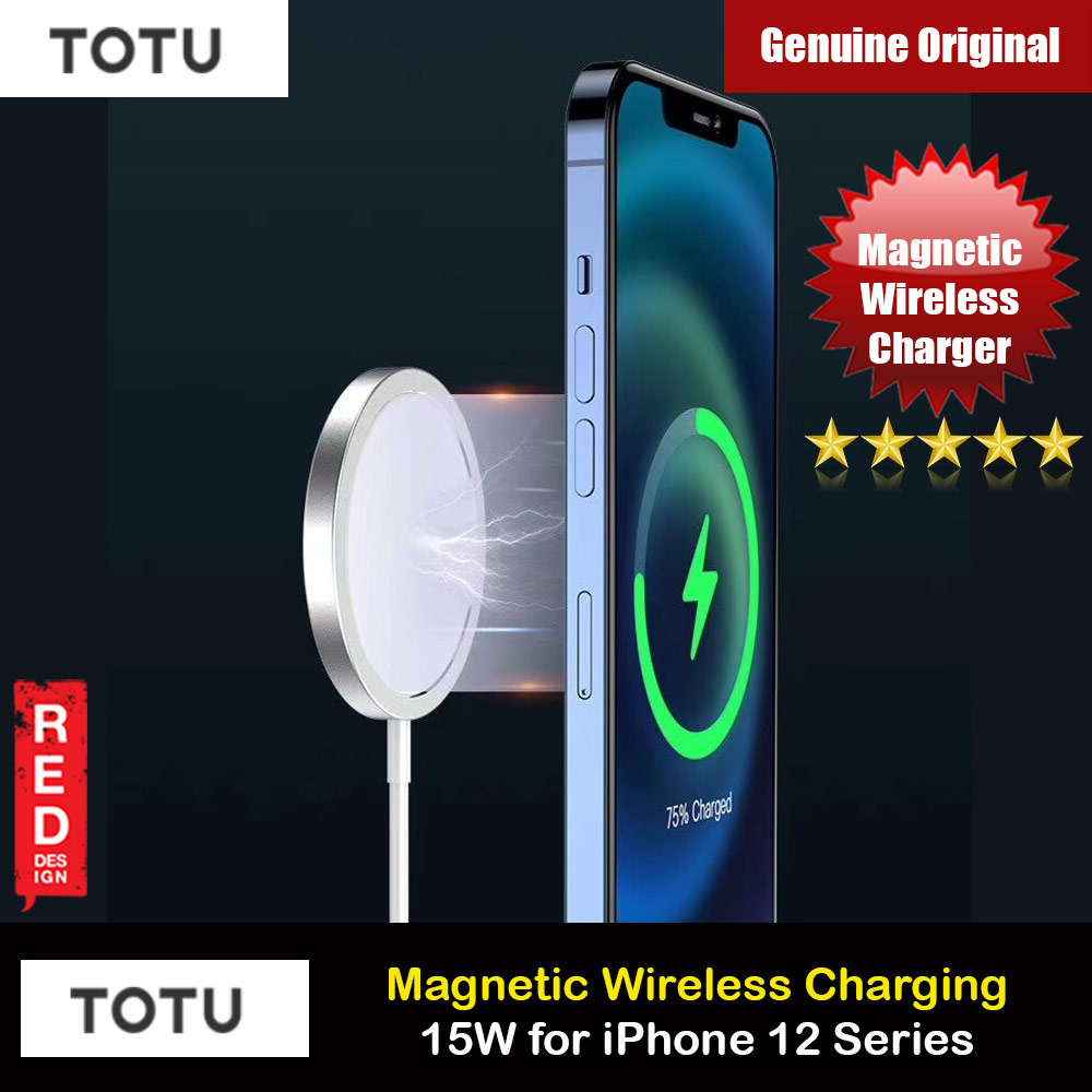 Picture of Totu 15W Magnetic Magsafe Fast Portable Wireless Charger 15W For Iphone 12 iPhone 12 Pro Max Series Charger Wireless Charger Even with Phone Case iPhone Cases - iPhone 12, iPhone 12 Pro max, iPhone 11, iPhone 11 Pro Max, iPhone XS Max, iPhone X,iPhone SE,Galaxy Note 20 Ultra ,iPhone 8 Plus Cases Malaysia,iPad Air Pro Cases and a wide selection of Accessories in Malaysia, Sabah, Sarawak and Singapore.