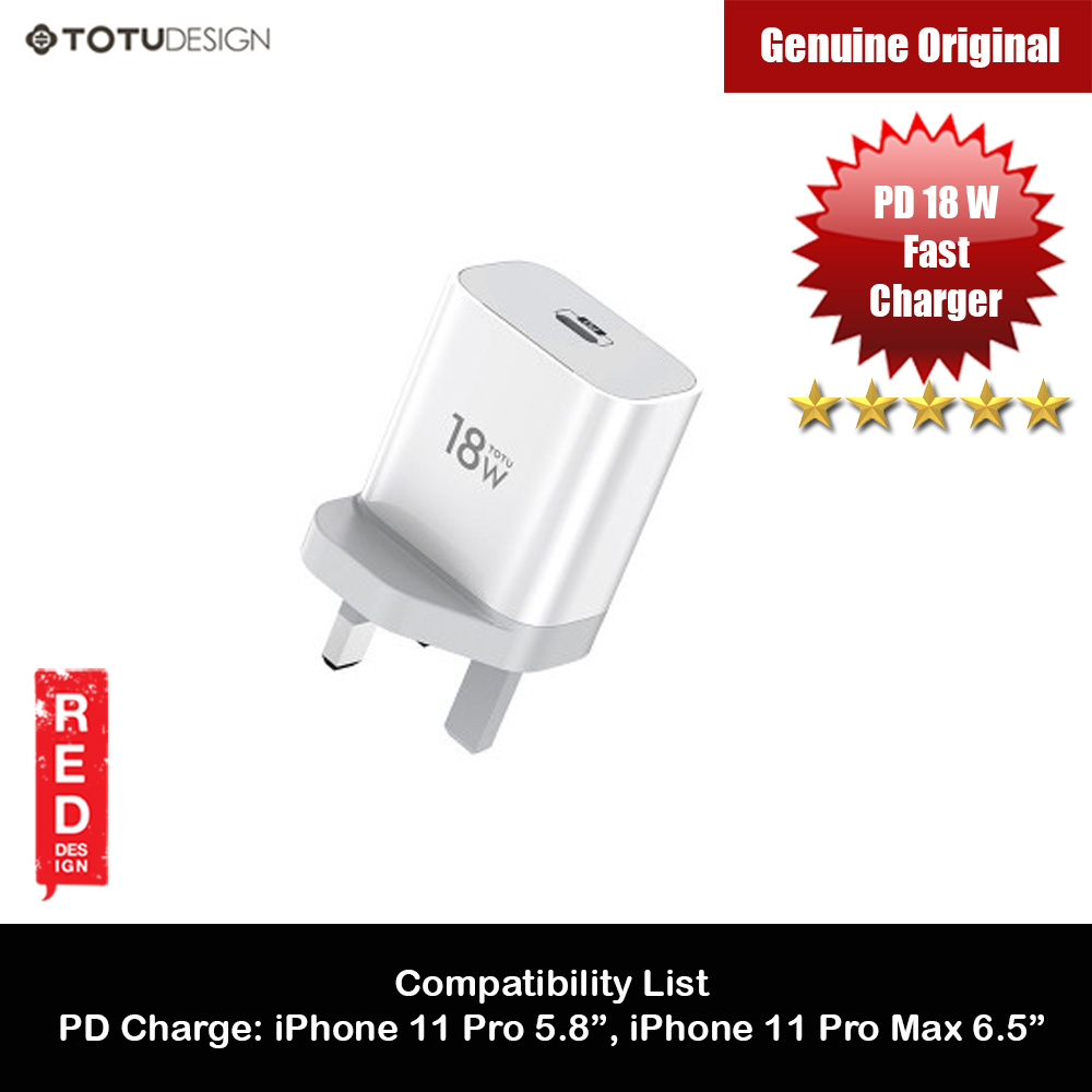 Picture of Totu PD18W Fast Charger UK Plug USB-C Type-C PD Output Charger for iPhone 11 Pro 5.8 iPhone 11 Pro Max 6.5 (White) iPhone Cases - iPhone 12, iPhone 12 Pro max, iPhone 11, iPhone 11 Pro Max, iPhone XS Max, iPhone X,iPhone SE,Galaxy Note 20 Ultra ,iPhone 8 Plus Cases Malaysia,iPad Air Pro Cases and a wide selection of Accessories in Malaysia, Sabah, Sarawak and Singapore.