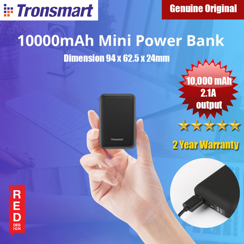 Picture of Tronsmart PB10 10000mAh Mini Power Bank (Black) Red Design- Red Design Cases, Red Design Covers, iPad Cases and a wide selection of Red Design Accessories in Malaysia, Sabah, Sarawak and Singapore