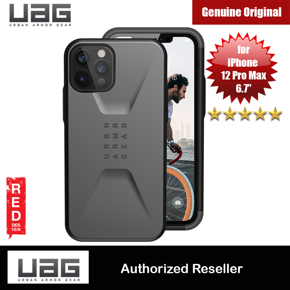 Picture of UAG Urban Armor Gear Protection Case Civilian Series for iPhone 12 Pro Max 6.7 (Silver) Apple iPhone 11 Pro Max 6.5- Apple iPhone 11 Pro Max 6.5 Cases, Apple iPhone 11 Pro Max 6.5 Covers, iPad Cases and a wide selection of Apple iPhone 11 Pro Max 6.5 Accessories in Malaysia, Sabah, Sarawak and Singapore