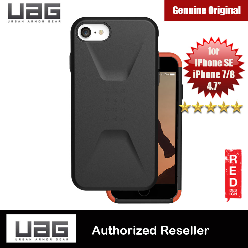 Picture of UAG Civilian Series Protection Case for Apple iPhone SE 2020 iPhone 7 iPhone 8 (Black) Apple iPhone 7 4.7- Apple iPhone 7 4.7 Cases, Apple iPhone 7 4.7 Covers, iPad Cases and a wide selection of Apple iPhone 7 4.7 Accessories in Malaysia, Sabah, Sarawak and Singapore