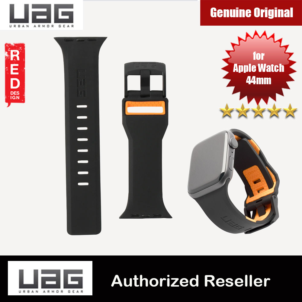 Picture of UAG Civilian Silicone Strap for Apple Watch 44mm Series 4 Series 5 (Black Orange) Apple Watch 44mm- Apple Watch 44mm Cases, Apple Watch 44mm Covers, iPad Cases and a wide selection of Apple Watch 44mm Accessories in Malaysia, Sabah, Sarawak and Singapore