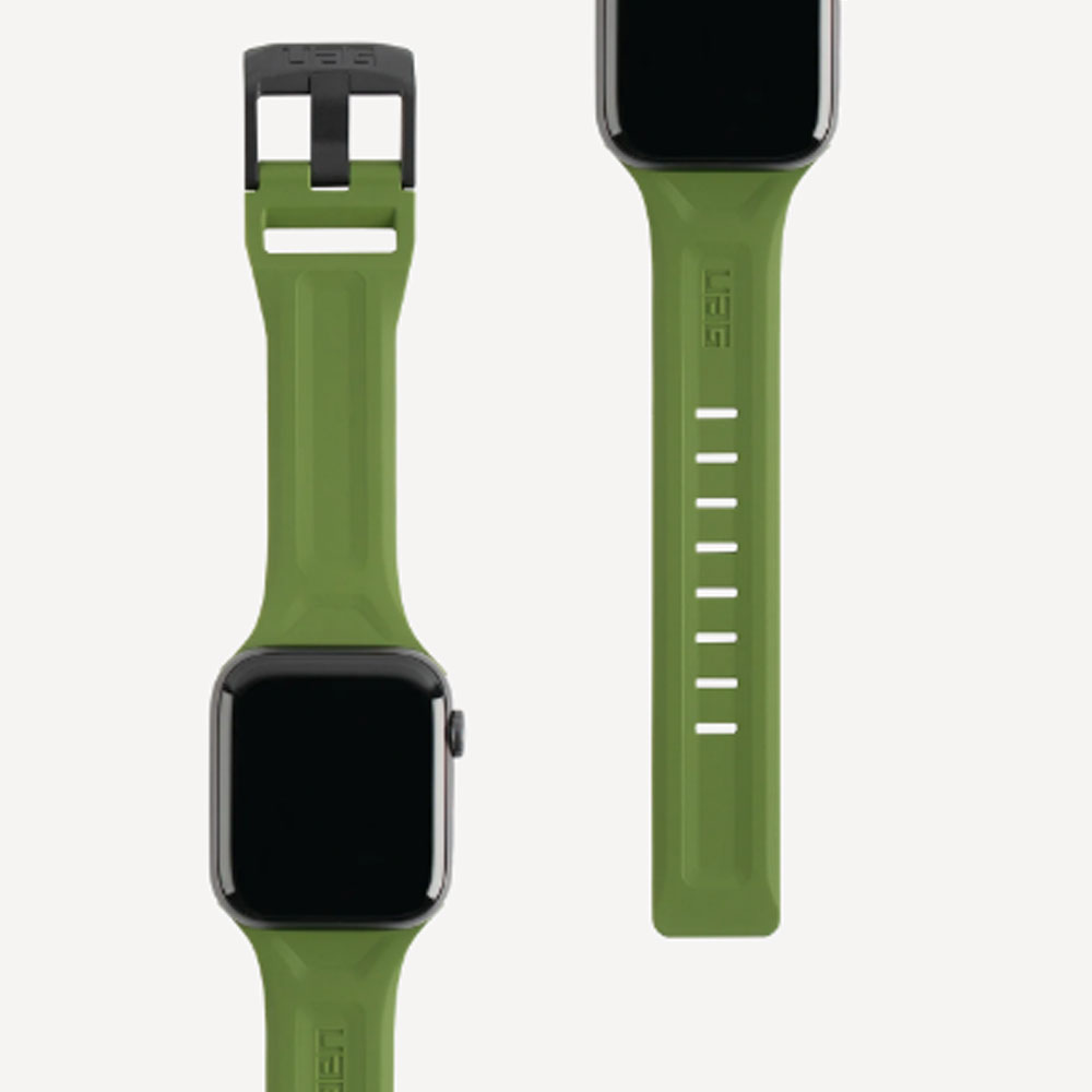 Picture of UAG Scout Silicone Watch Strap for Apple Watch 42mm 44mm Series 4 Series 5 Series 6 Series SE(Olive)