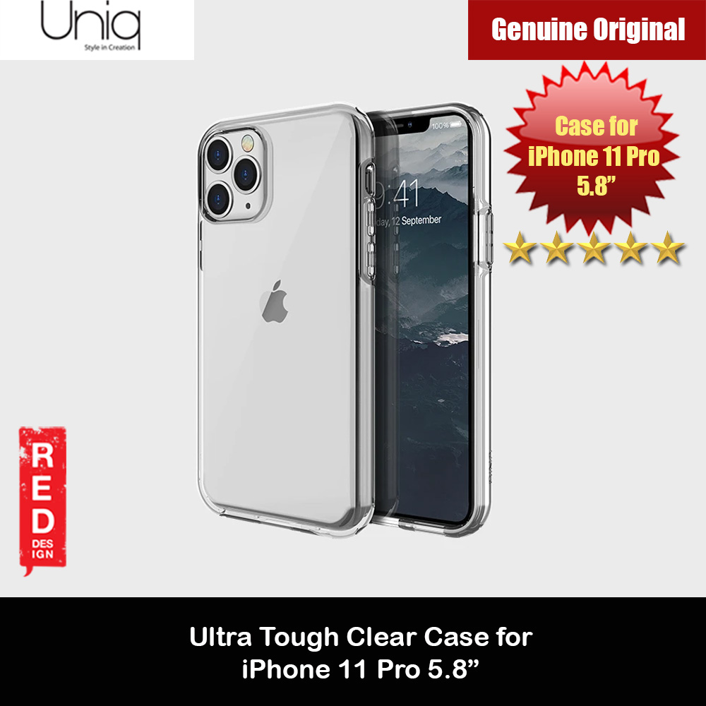 Picture of Uniq Clarion Ultra Tough Drop Protection Case for Apple iPhone 11 Pro 5.8  (Clear) Apple iPhone 11 Pro 5.8- Apple iPhone 11 Pro 5.8 Cases, Apple iPhone 11 Pro 5.8 Covers, iPad Cases and a wide selection of Apple iPhone 11 Pro 5.8 Accessories in Malaysia, Sabah, Sarawak and Singapore