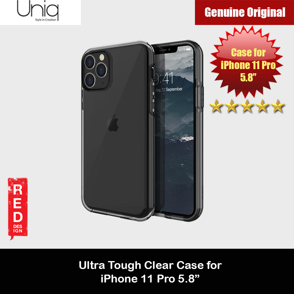 Picture of Uniq Clarion Ultra Tough Drop Protection Case for Apple iPhone 11 Pro 5.8  (Smoke) Apple iPhone 11 Pro 5.8- Apple iPhone 11 Pro 5.8 Cases, Apple iPhone 11 Pro 5.8 Covers, iPad Cases and a wide selection of Apple iPhone 11 Pro 5.8 Accessories in Malaysia, Sabah, Sarawak and Singapore
