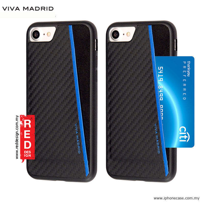 Picture of Viva Madrid Card Case Grafito Racha Series for iPhone 7 iPhone 8 4.7 - Blue Apple iPhone 8- Apple iPhone 8 Cases, Apple iPhone 8 Covers, iPad Cases and a wide selection of Apple iPhone 8 Accessories in Malaysia, Sabah, Sarawak and Singapore