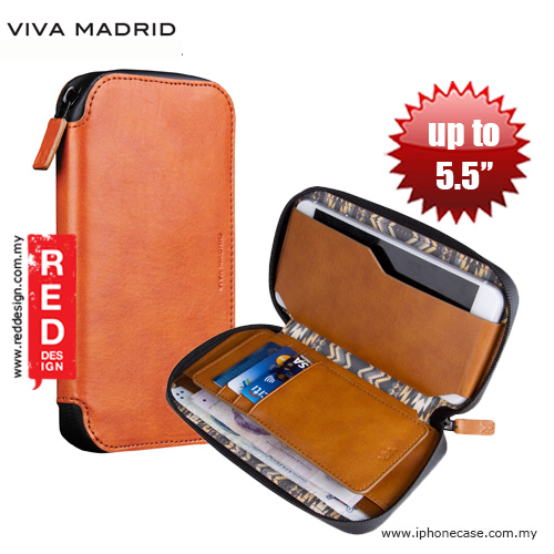 Picture of Viva Madrid Robusto Universal Weather Proof Wallet Case Phone Pocket for Apple iPhone X or up to 5.5 - Brown Apple iPhone 5- Apple iPhone 5 Cases, Apple iPhone 5 Covers, iPad Cases and a wide selection of Apple iPhone 5 Accessories in Malaysia, Sabah, Sarawak and Singapore