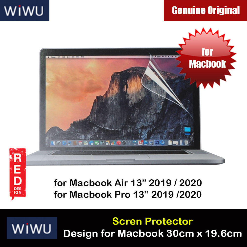 "Picture of WIWU Ultra Thin Screen Proctector for Macbook Air 13"" Macbook Pro 13"" Size 30cm x 19.6cm Red Design- Red Design Cases, Red Design Covers, iPad Cases and a wide selection of Red Design Accessories in Malaysia, Sabah, Sarawak and Singapore"