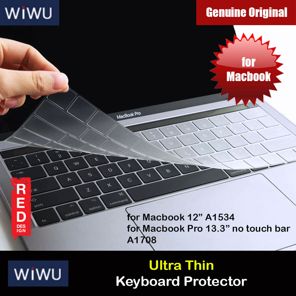 "Picture of WIWU High Transparency Ultra Thin Keyboard Cover Protector for Macbook 12"" Retina A1534 Macbook Pro 13.3"" A1708 Red Design- Red Design Cases, Red Design Covers, iPad Cases and a wide selection of Red Design Accessories in Malaysia, Sabah, Sarawak and Singapore"