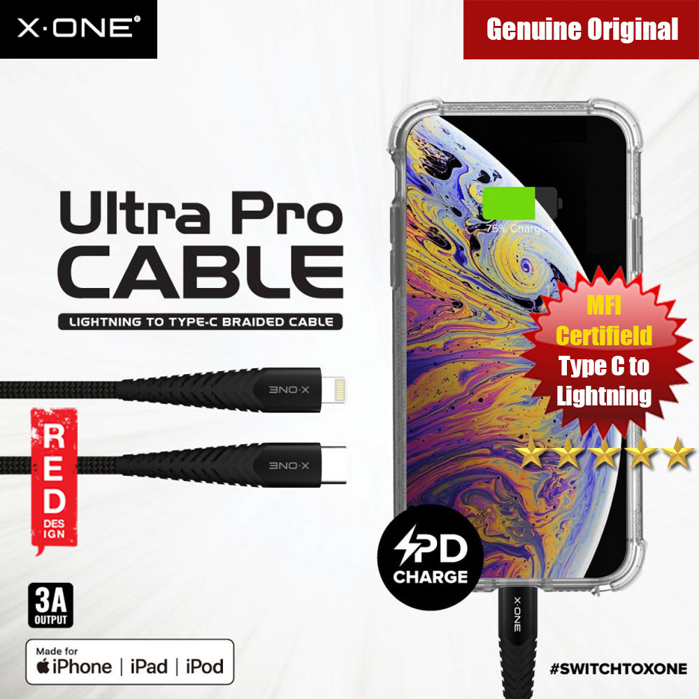 Picture of X.One Ultra Pro 3A Cable PD support MFI Certifield Type C to Lightning Apple iPhone XS Max- Apple iPhone XS Max Cases, Apple iPhone XS Max Covers, iPad Cases and a wide selection of Apple iPhone XS Max Accessories in Malaysia, Sabah, Sarawak and Singapore