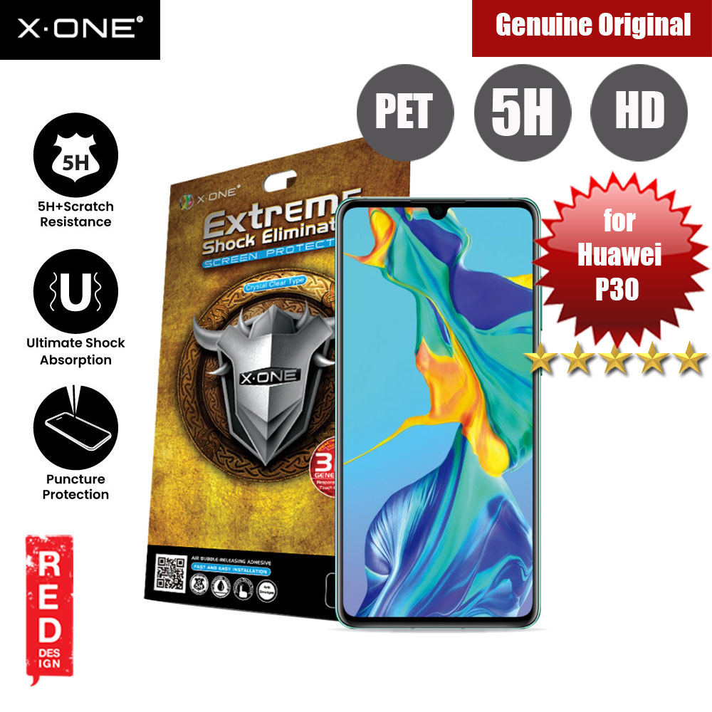 Picture of X.One Extreme Shock Eliminator PET Screen Protector For Huawei P30 (Clear) Huawei P30- Huawei P30 Cases, Huawei P30 Covers, iPad Cases and a wide selection of Huawei P30 Accessories in Malaysia, Sabah, Sarawak and Singapore