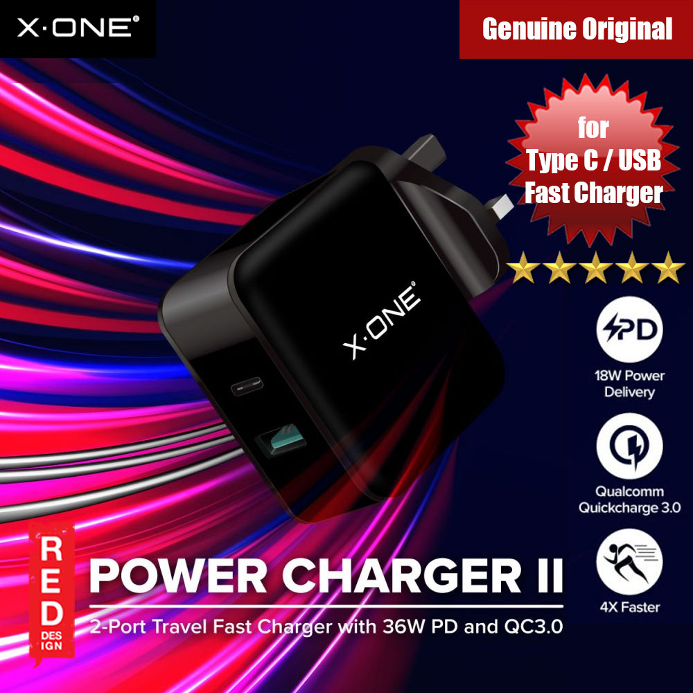 Picture of X.One Power Charger II PD Fast Charger Qualcomm 3.0 Fast Charger Huawei FCP Charger Red Design- Red Design Cases, Red Design Covers, iPad Cases and a wide selection of Red Design Accessories in Malaysia, Sabah, Sarawak and Singapore