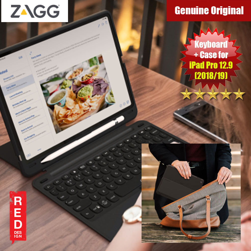 "Picture of ZAGG Slim Book Go for the Apple iPad Pro 12.9"" 2018 2019 (Black) Apple iPad Pro 12.9 2018- Apple iPad Pro 12.9 2018 Cases, Apple iPad Pro 12.9 2018 Covers, iPad Cases and a wide selection of Apple iPad Pro 12.9 2018 Accessories in Malaysia, Sabah, Sarawak and Singapore"