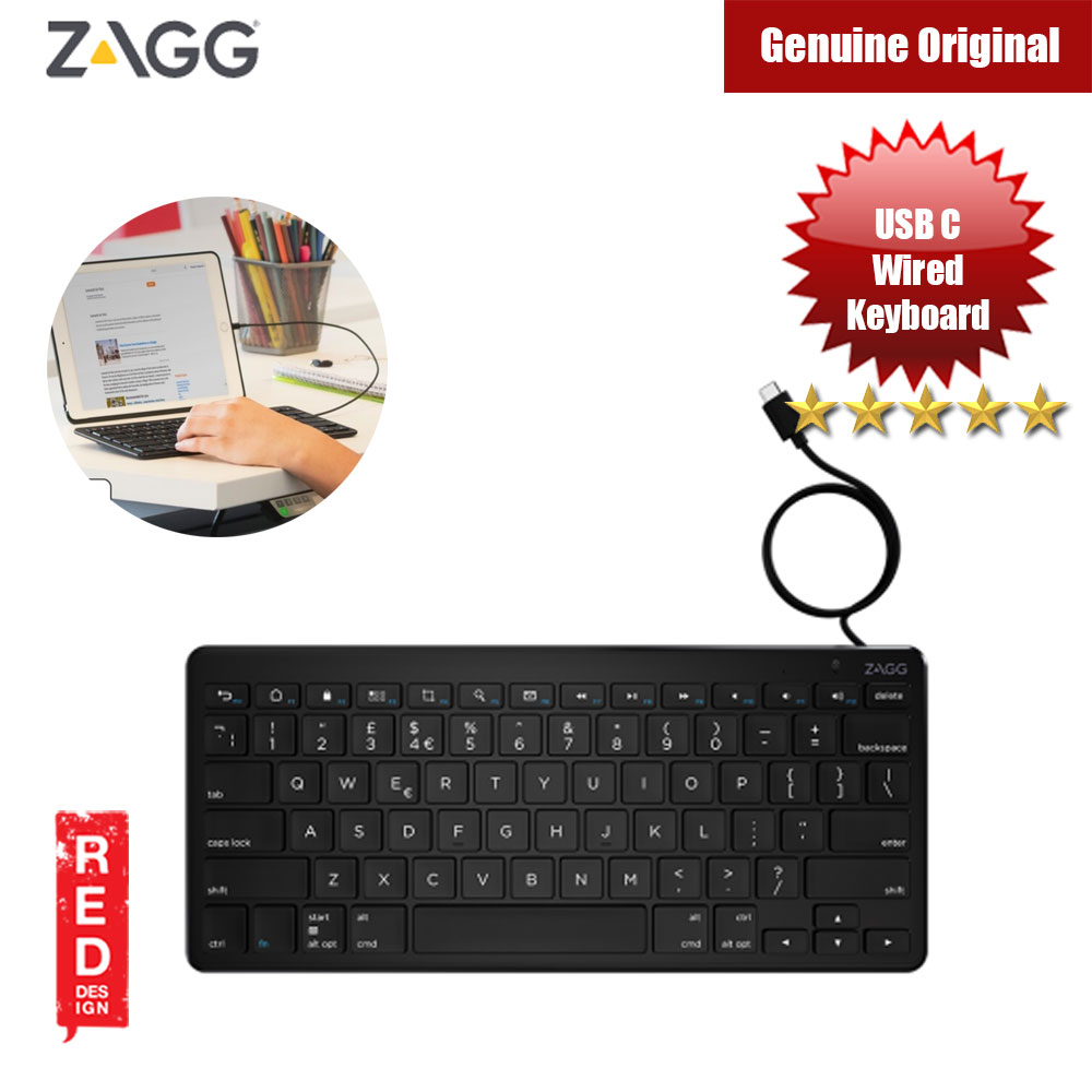 Picture of ZAGG USB C Wired Full Size Universal Keyboard for Type C Devices (Black) Red Design- Red Design Cases, Red Design Covers, iPad Cases and a wide selection of Red Design Accessories in Malaysia, Sabah, Sarawak and Singapore